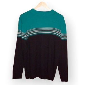 Appleseed's Ribbed Striped Multi Color Sweater - 3X - NWOT